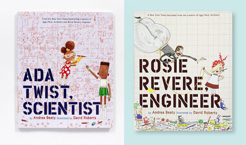 Ada Twist Scientist and Rosie Revere Engeneer books for smart little girls gift guide 2018