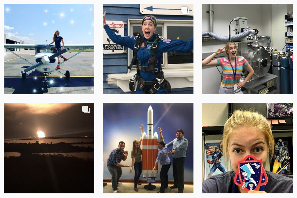 astronaut abby top STEM instagram feed for girls account