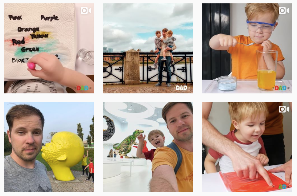 the dad lab top instagram account for girls in STEM