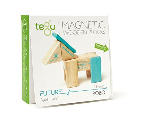 Robo Rascal Magnetic Wooden Block Set