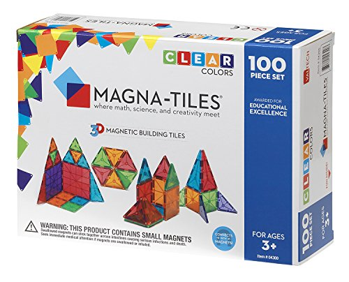 Magna-Tiles 100 Piece Construction Set