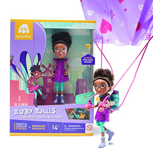 GoldieBlox Ruby Rails Parachuting Set (Ages 4+)