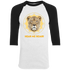 Hear Me Roar - Ladies 3/4 Sleeve Tshirt Aug