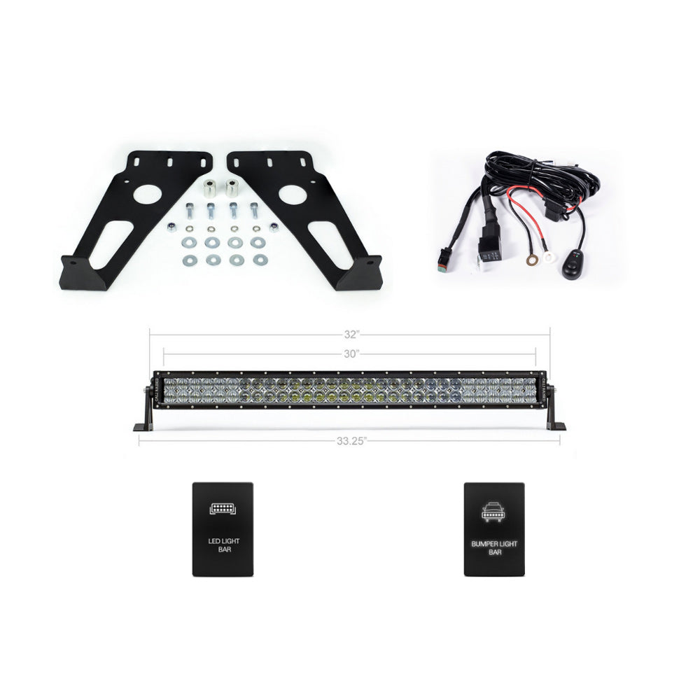 Hidden LED Grille Light Bar Mount & Light Bar Combo - 2014-2020 Toyota 4Runner