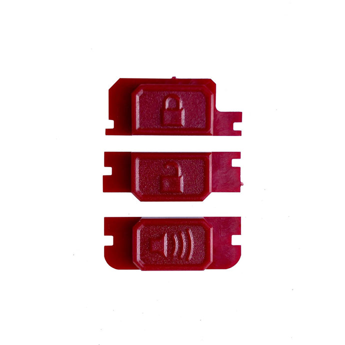 Minimalist Fob Buttons - RED