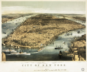 1856 New York City Map