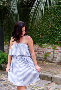 Come Sail Away Dress in Dusty Blue