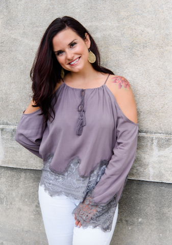 Dainty Little Maiden Top in Plum