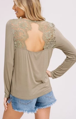 Pretty Girl Rock Top in Olive Green
