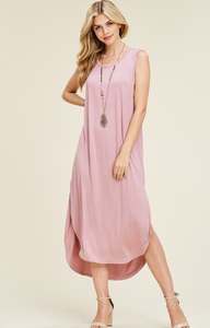 Free Fallin' Dress in Mauve