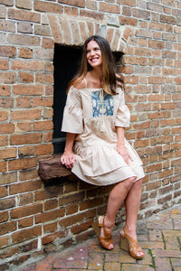 Daisy Bell Dress in Taupe