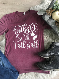 Football and Fall Y'all Shirt