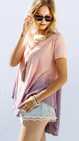 Melt With You Top in Pink/Purple