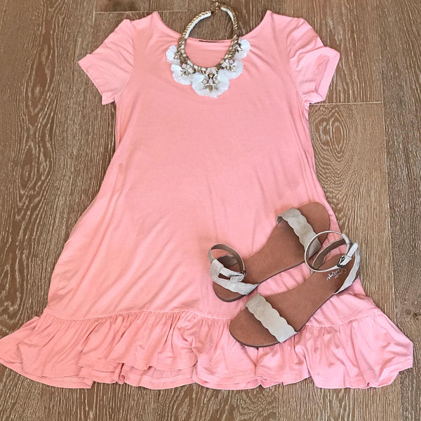 We Are Young Dress in Peach
