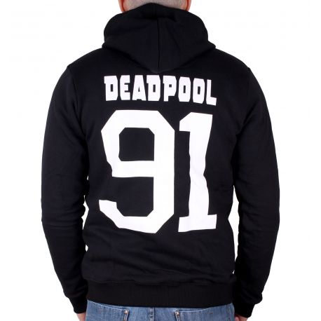 Sweat Zippé Deadpool Marvel - Metal Logo