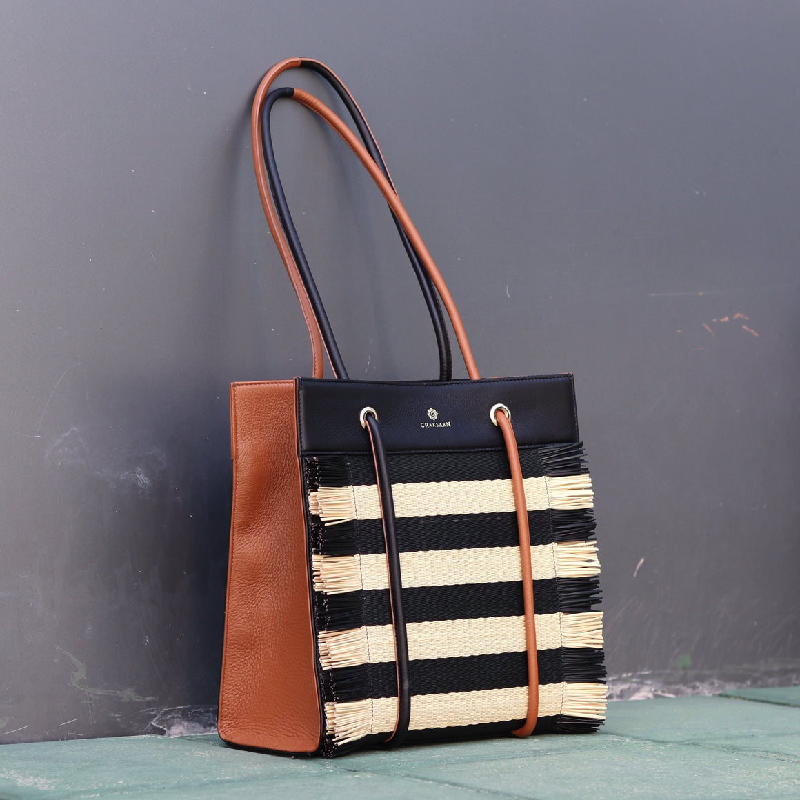 Carrie (Black Tan Stripe)