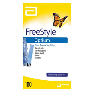 Freestyle Optium Meter Test Strips (100)