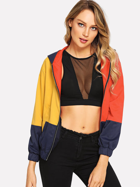 Multicolor Hooded jacket