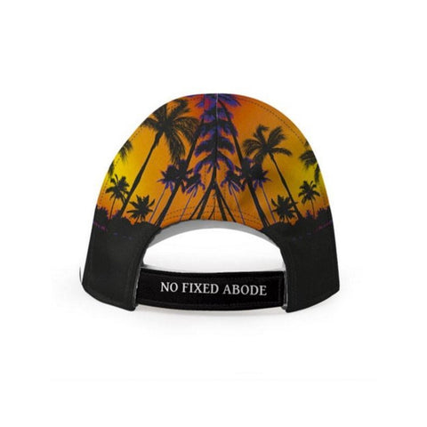 Womens Orange Tropical Luxury Baseball Cap