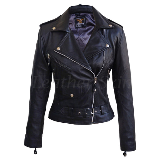 Plus Size Black Biker Jacket
