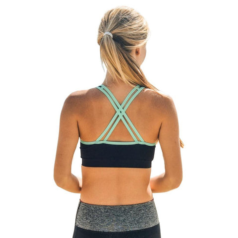 Padded Criss Cross Sports Bra