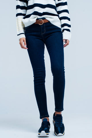 Skinny Jeans - Women's Trendy Blue Skinny Long Jeans