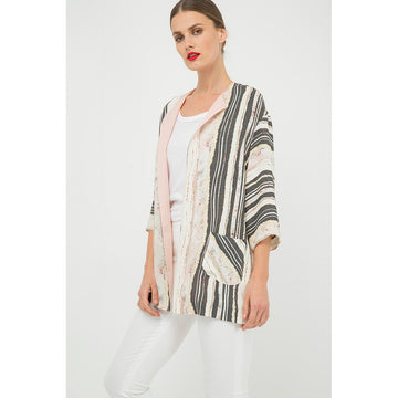Black And White Sleeves Oversized Top - Fashiontage