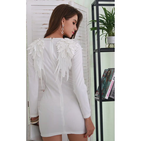 Day Dresses - Women's Trendy White Party Dress