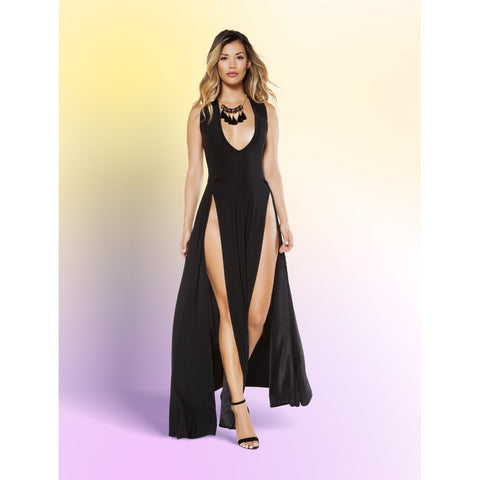 Plus Size Maxi Slit Cocktail Dress