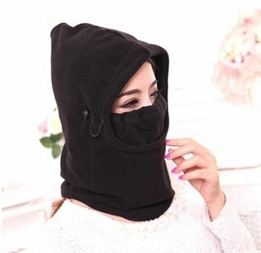 Thermal Fleece Balaclava Outdoor Ski Masks Bike Cycling Beanies Winter Mask Hats