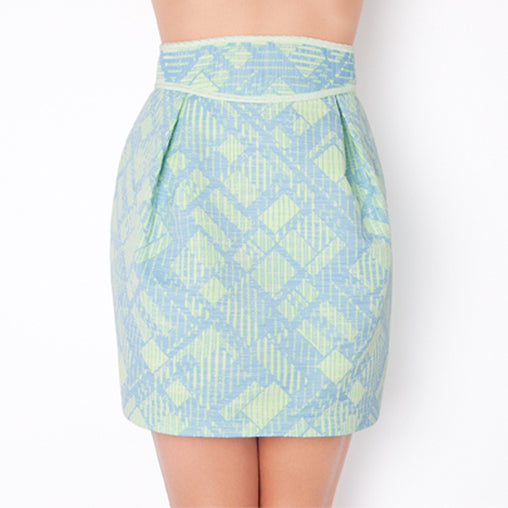 Aqua Blue Ruby Mini Skirt