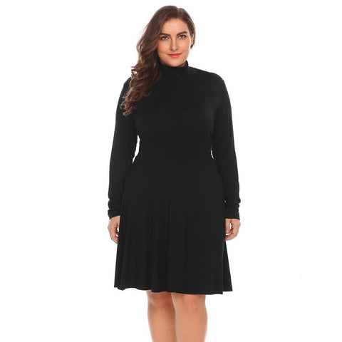Plus Size Dresses - Women's Trendy Plus Size Fit And Flare Dress