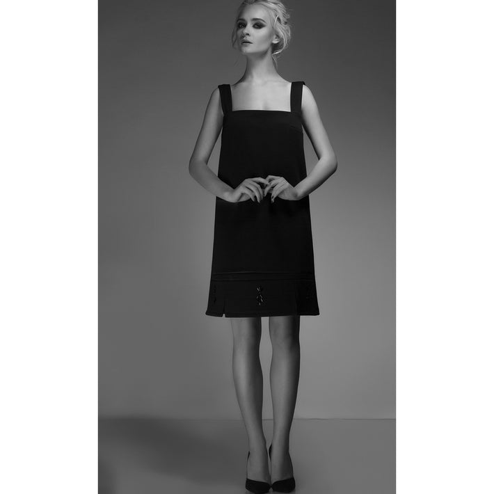 Black Embellished Dress - Fashiontage