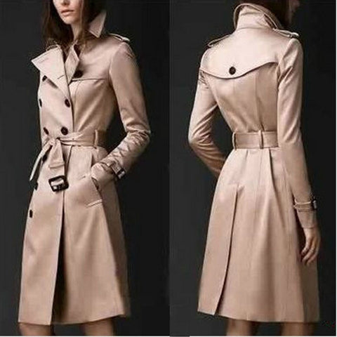 Black Polyester Peacoat Coat