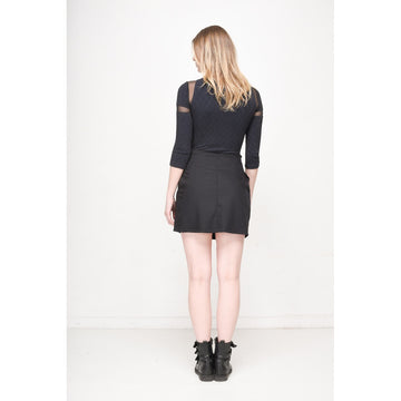 Black Pleated Mini Skirt - Fashiontage