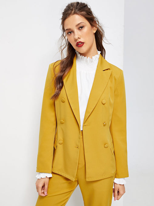 Self Adjustable Belted Ginger Blazer