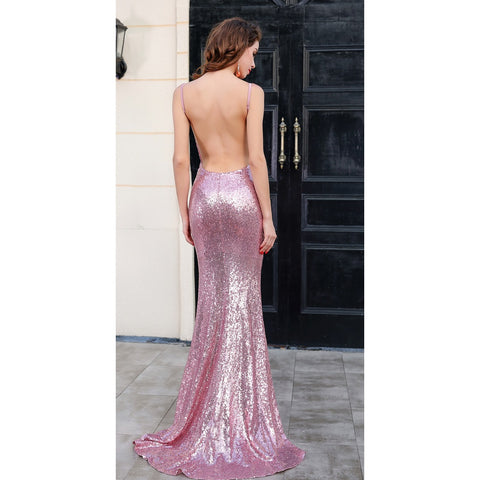 Pink Sequin Cocktail Dress