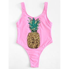 Sequin Pineapple Swimsuit - Fashiontage