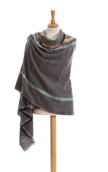 Wool Plaid Stole