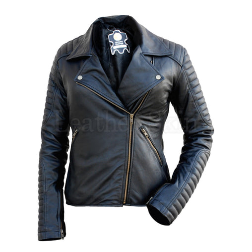 Plus Size Black Padded Leather Jacket