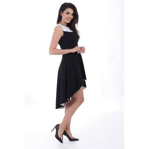 Cocktail & Party Dresses - Women's Trendy Black Long Cocktail Dress