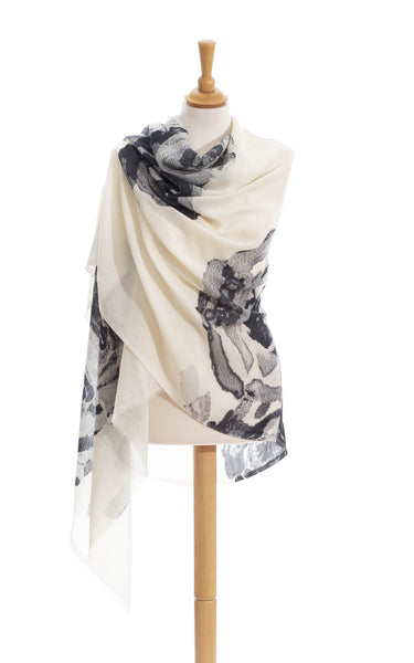 Black And White Scarves