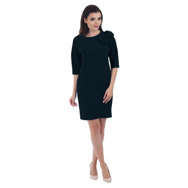 Cocktail & Party Dresses - Women's Trendy Black Short Sleeve Cocktail Dress