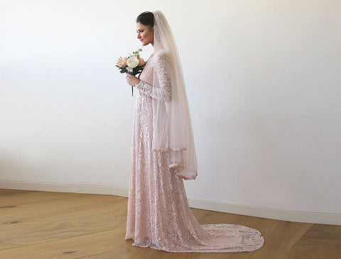 Sleeve Gown With A Train