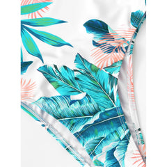 Jungle Print Open Back Swimsuit - Fashiontage
