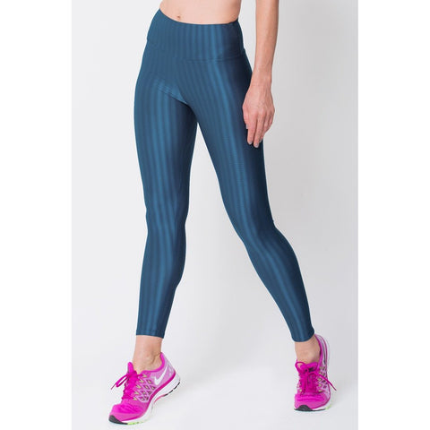 Cropped Pants - Women's Trendy Navy 3d Disco Leggings