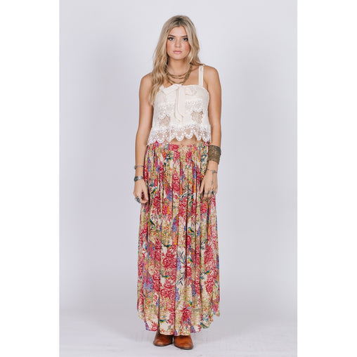 Maxi Viscose Draped Skirt
