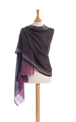 Scarves - Women's Trendy Color Squares Tulip pure wool scarf