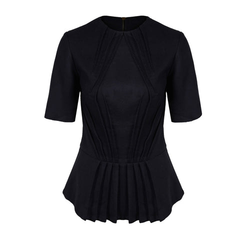 Tunic Tops & Kaftans - Women's Trendy Black Peplum Top
