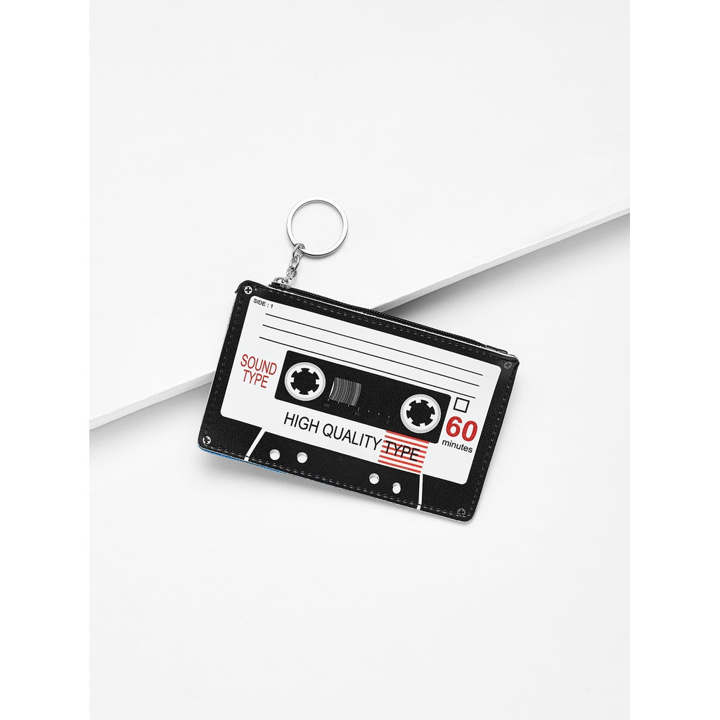 Black And White Tape Shaped Card Pouch